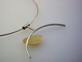 Original and modern gold & silver pendant.