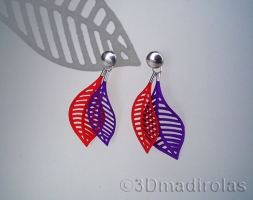 Sterling silver and color earrings.