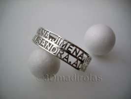 Personalized bracelet with some names.